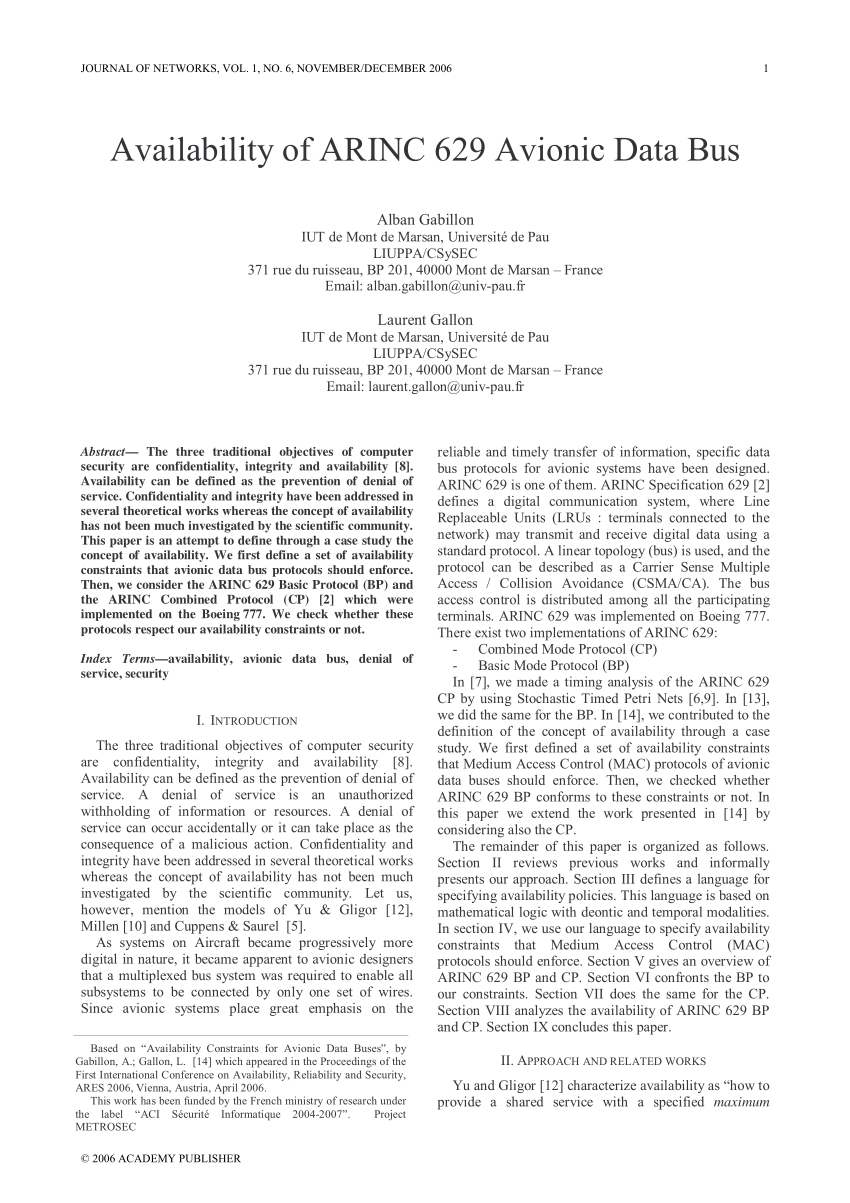 medium resolution of  pdf the evolution of aircraft data networks