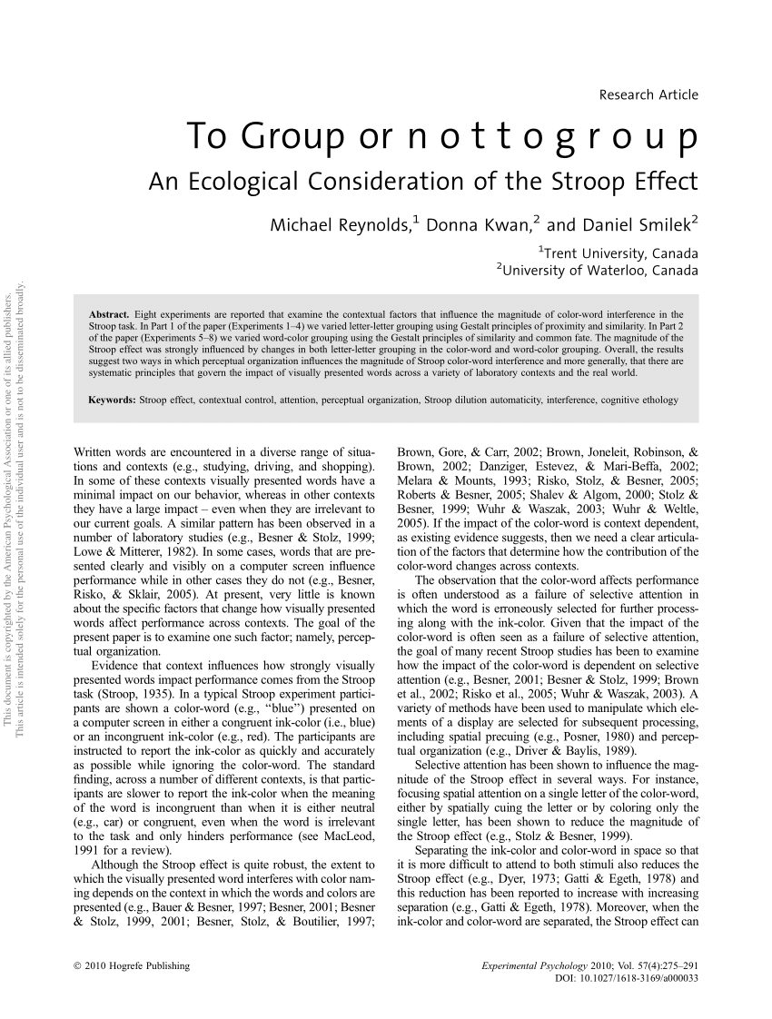 To Group Or N O T T O G R O U P An PDF Download Available