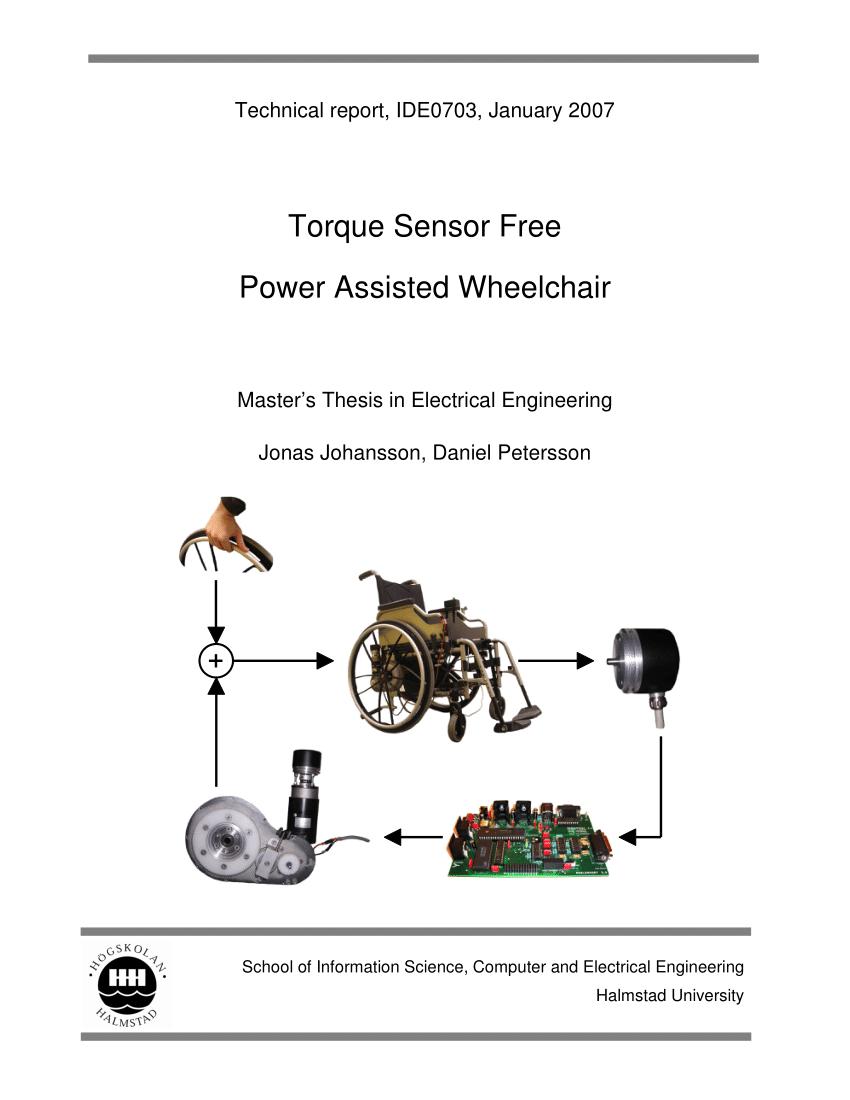 (PDF) Torque Sensor Free Power Assisted Wheelchair
