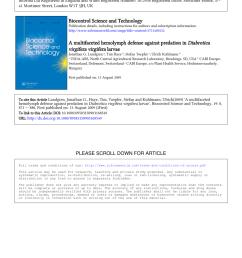 pdf a multifaceted hemolymph defense against predation in diabrotica virgifera virgifera larvae [ 850 x 1203 Pixel ]