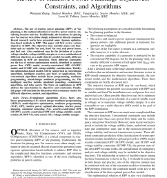 pdf review of reactive power planning objectives constraints and algorithms [ 850 x 1134 Pixel ]