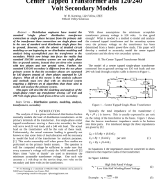 pdf center tapped transformer and 120 240 volt secondary models [ 850 x 1100 Pixel ]