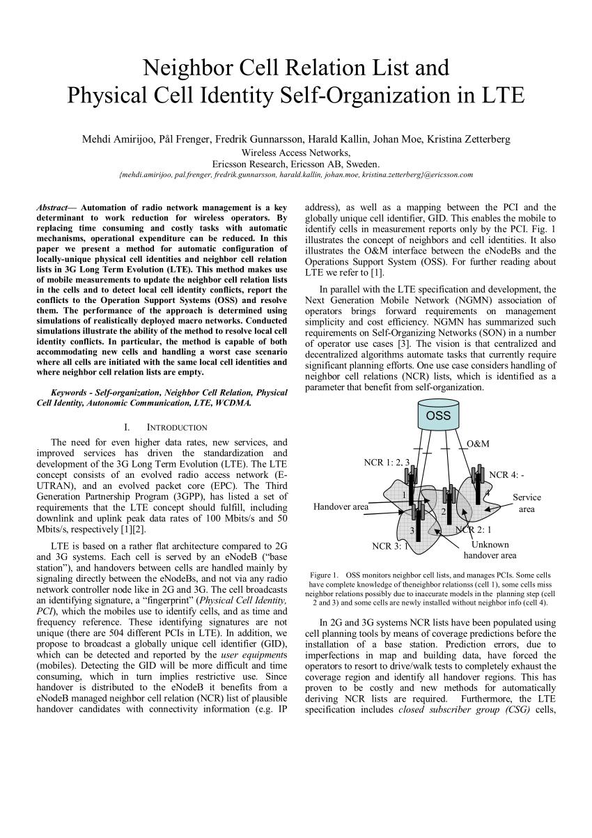 Menggabungkan 2 Cell : menggabungkan, Neighbor, Relation, Physical, Identity, Self-Organization