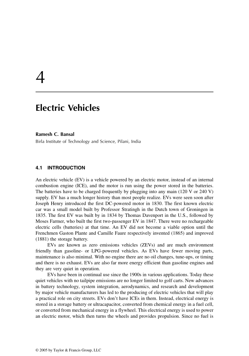 medium resolution of  pdf electric vehicles