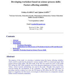 PDF) Developing worksheet based on science process skills: Factors  affecting solubility [ 1203 x 850 Pixel ]