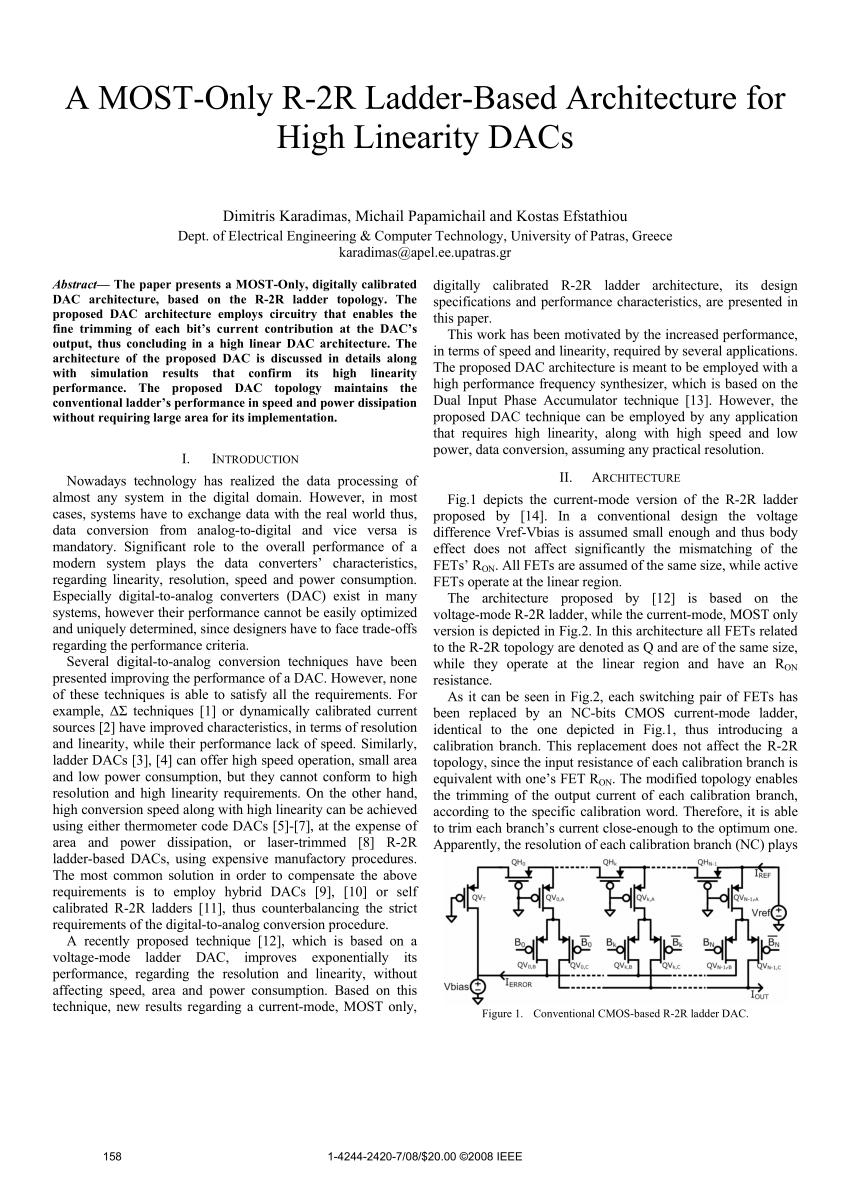 hight resolution of  pdf a most only r 2r ladder based architecture for high linearity dacs