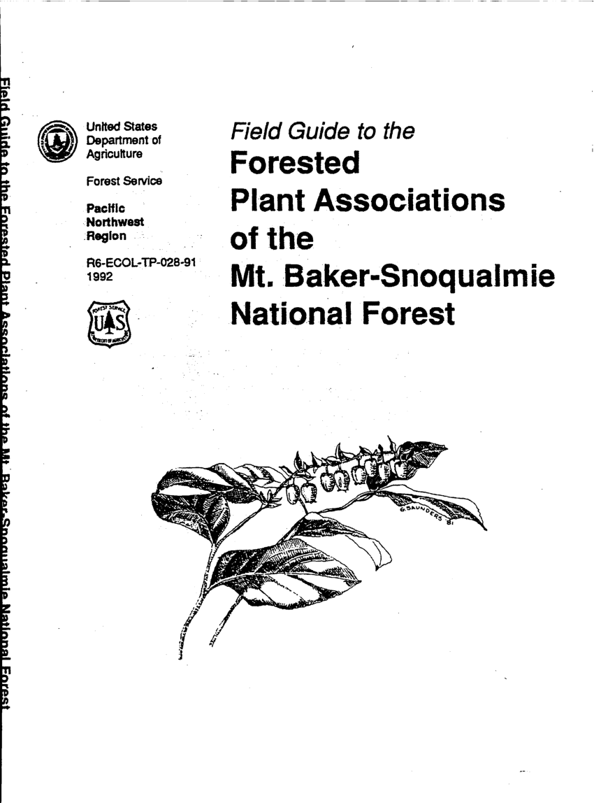 (PDF) Field guide to the forested plant associations of