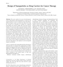 pdf design of nanoparticles as drug carriers for cancer therapy [ 850 x 1133 Pixel ]