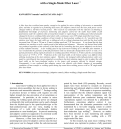 pdf in process monitoring and adaptive control in micro welding with a single mode fiber laser [ 850 x 1202 Pixel ]