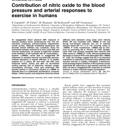 pdf contribution of nitric oxide to the blood pressure and arterial responses to exercise in humans [ 850 x 1133 Pixel ]