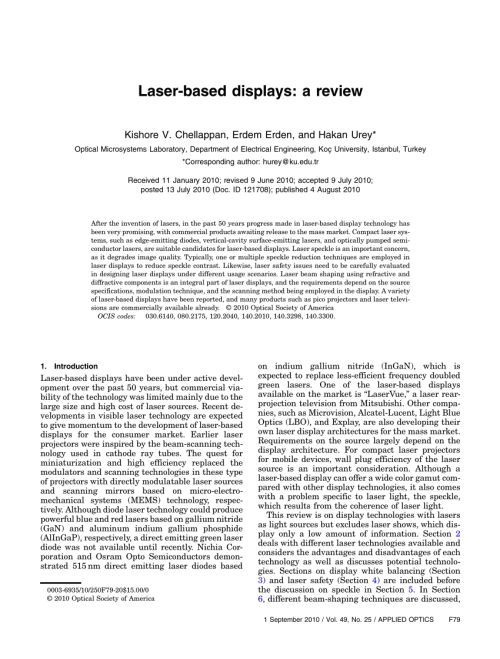 small resolution of  pdf laser based displays a review