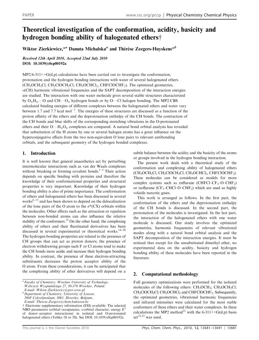 hight resolution of analysis of the intermolecular interactions between ch3och3 cf3och3 cf3ocf3 and ch2f2 chf3 shingo urata request pdf