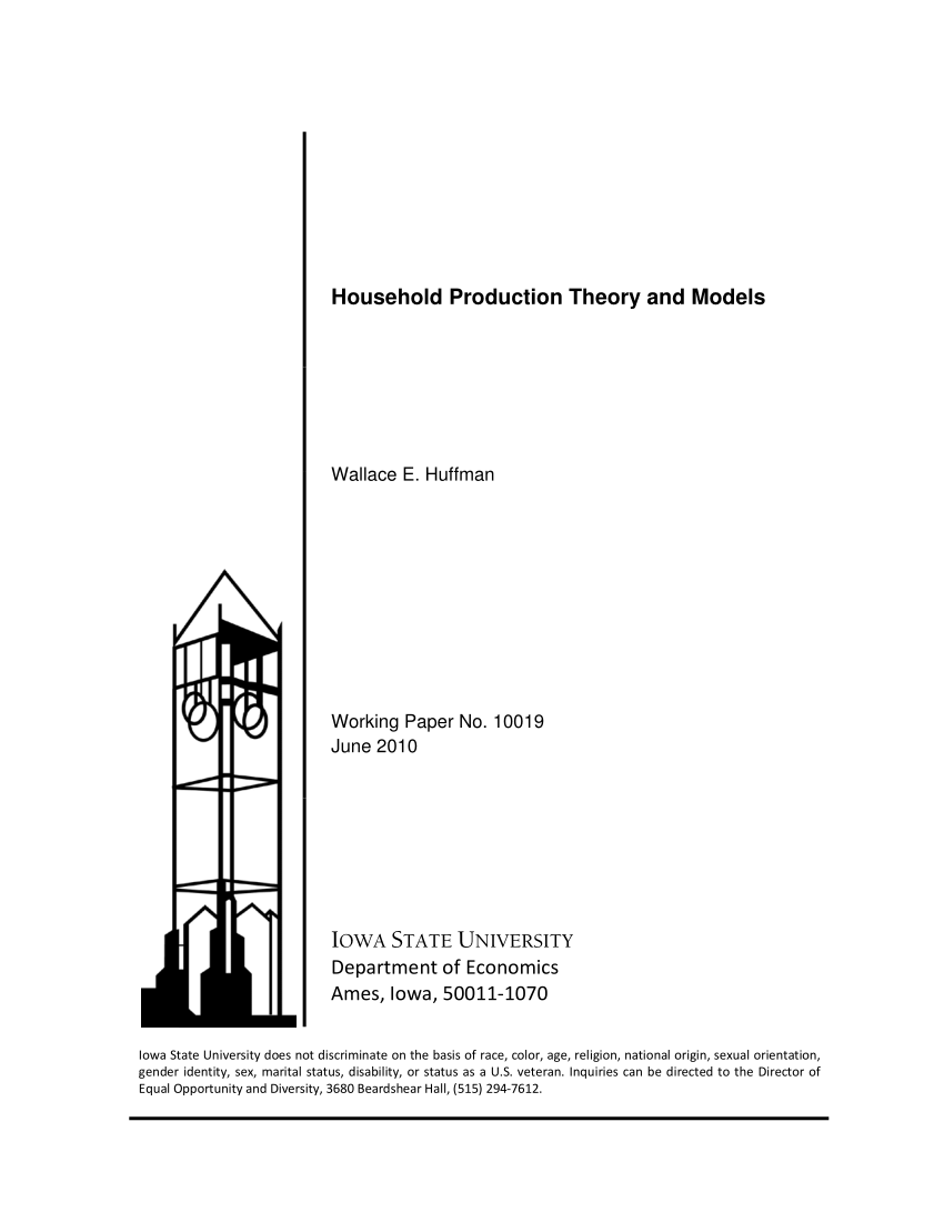 (PDF) Household Production Theory and Models