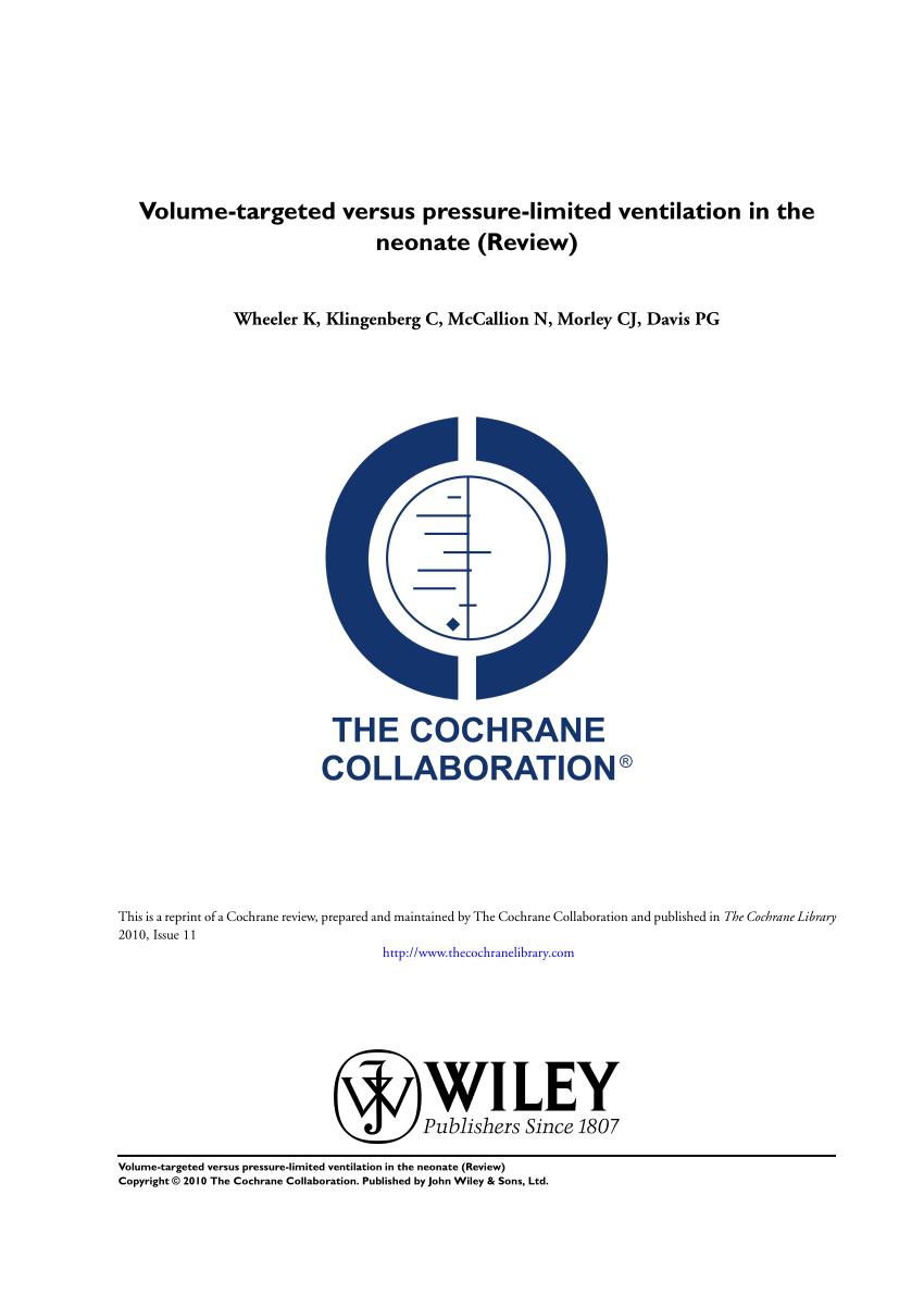 medium resolution of  pdf volume targeted versus pressure limited ventilation in the neonate