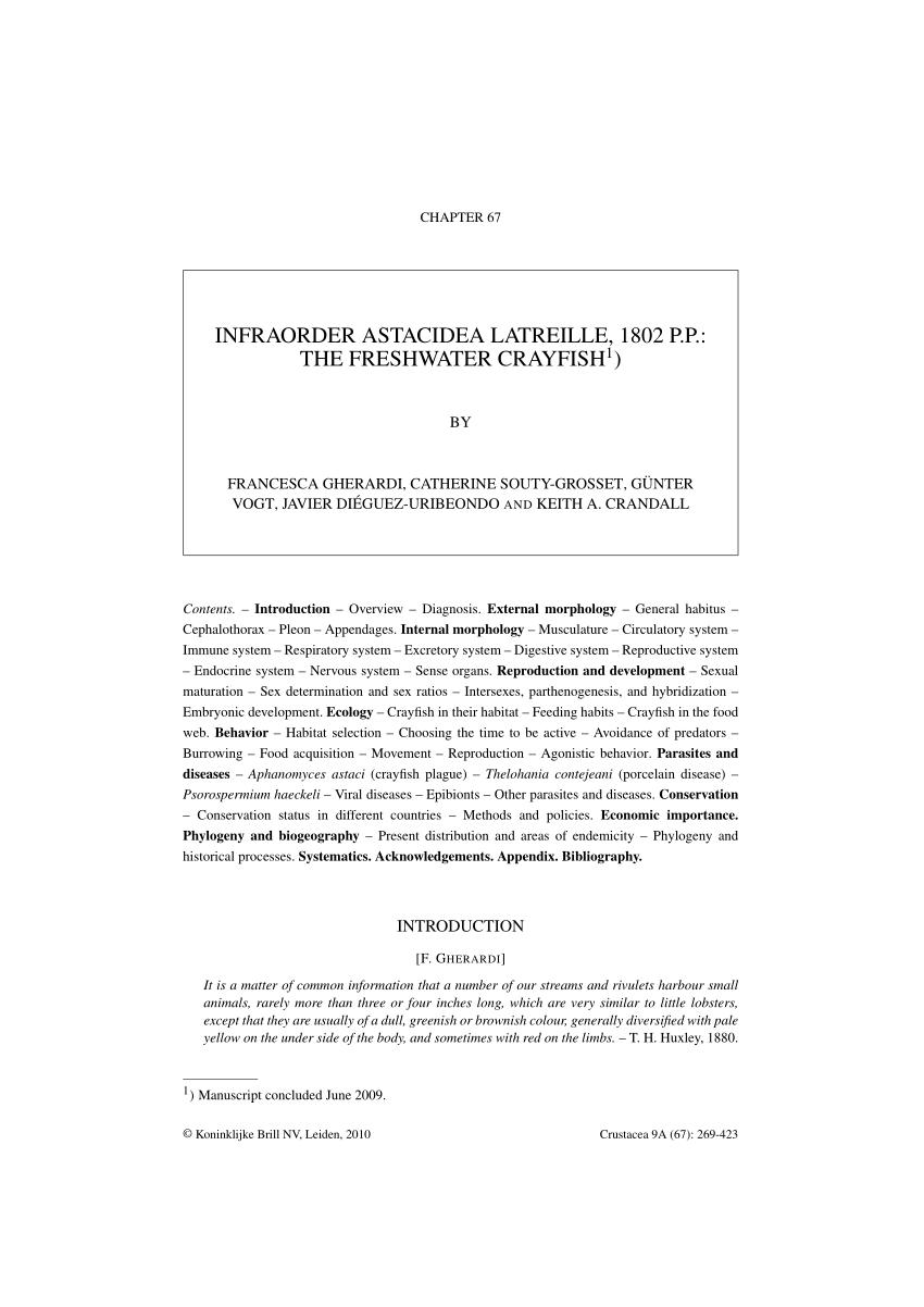 medium resolution of PDF) Infraorder astacidea Latreille