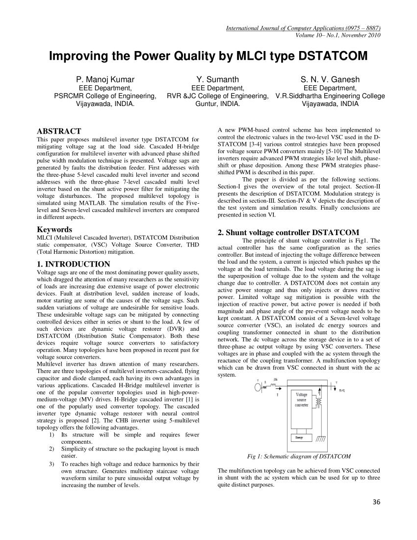 medium resolution of  pdf improving the power quality by mlci type dstatcom