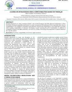 Pdf review  guide on intravenous drug compatibilities based their ph also rh researchgate