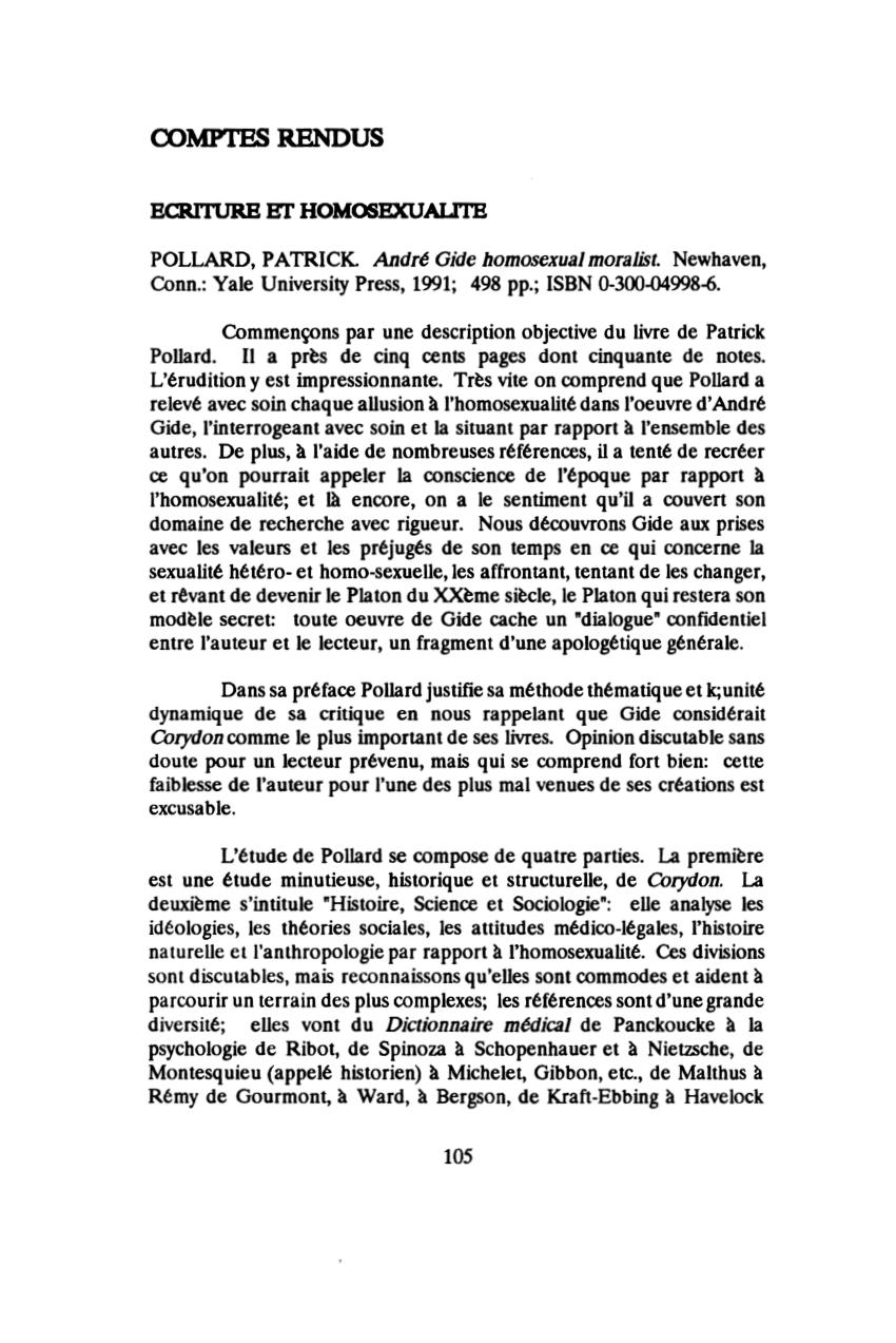 André Gide Le Temps Qui Passe : andré, temps, passe, Patrick, Pollard,, André, Homosexual, Moralist