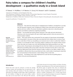 pdf fairy tales a compass for children s healthy development a qualitative study in a greek island [ 850 x 1138 Pixel ]