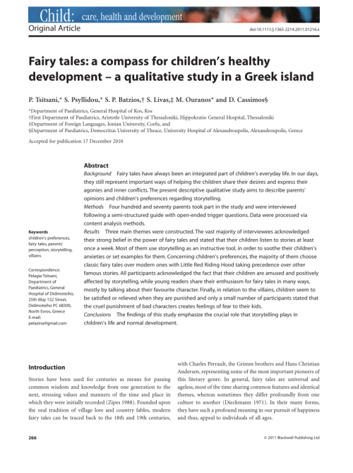 small resolution of  pdf fairy tales a compass for children s healthy development a qualitative study in a greek island