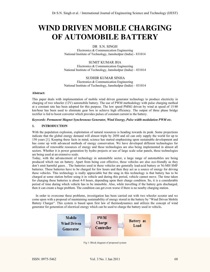 medium resolution of  pdf wind energy based mobile battery charging and battery applications