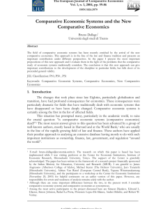Pdf abstract comparative economic systems and the new economics also rh researchgate