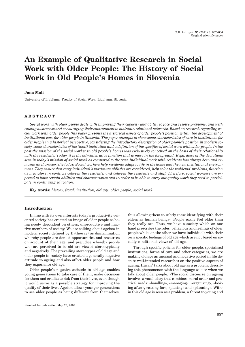 PDF An Example Of Qualitative Research In Social Work