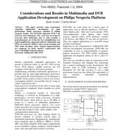 pdf considerations and results in multimedia and dvb application development on philips nexperia platform [ 850 x 1203 Pixel ]
