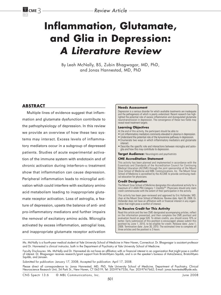 (PDF) McNally L, Bhagwagar Z, Hannestad J. Inflammation