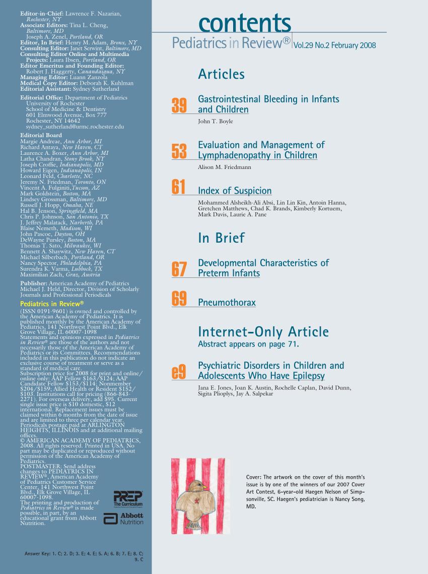 (PDF) Developmental Characteristics of Preterm Infants