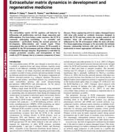 pdf extracellular matrix dynamics in development and regenerative medicine [ 850 x 1100 Pixel ]