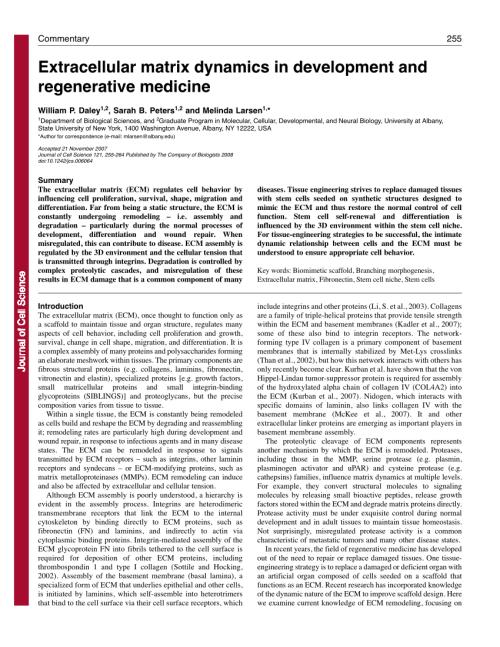 small resolution of  pdf extracellular matrix dynamics in development and regenerative medicine