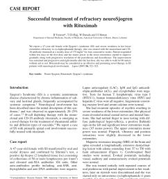 pdf successful treatment of refractory neurosjogren with rituximab [ 850 x 1133 Pixel ]