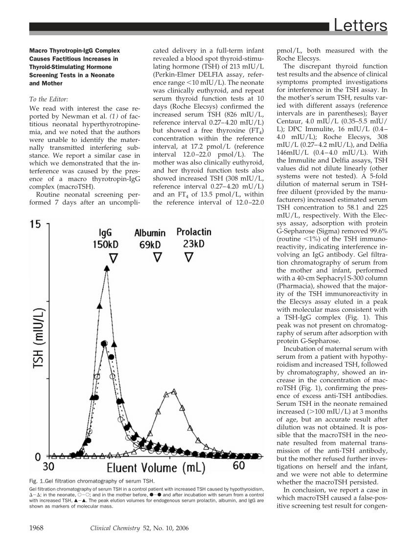 (PDF) Macro Thyrotropin-IgG Complex Causes Factitious