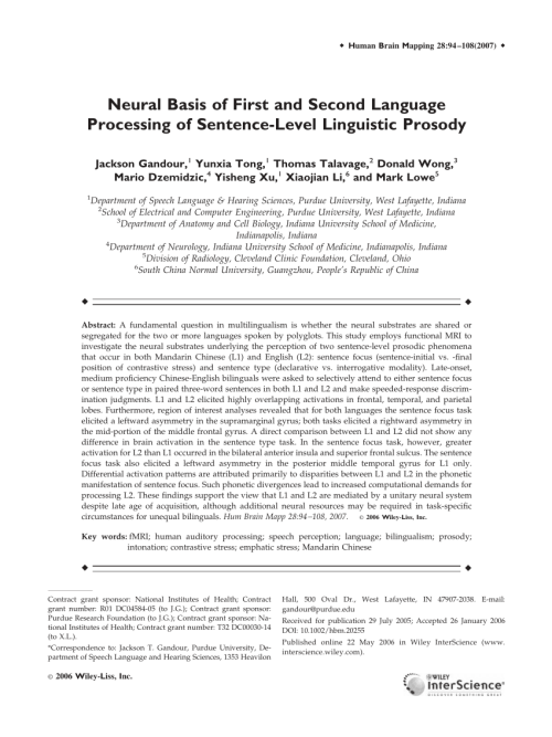small resolution of  pdf neural basis of first and second language processing of sentence level linguistic prosody