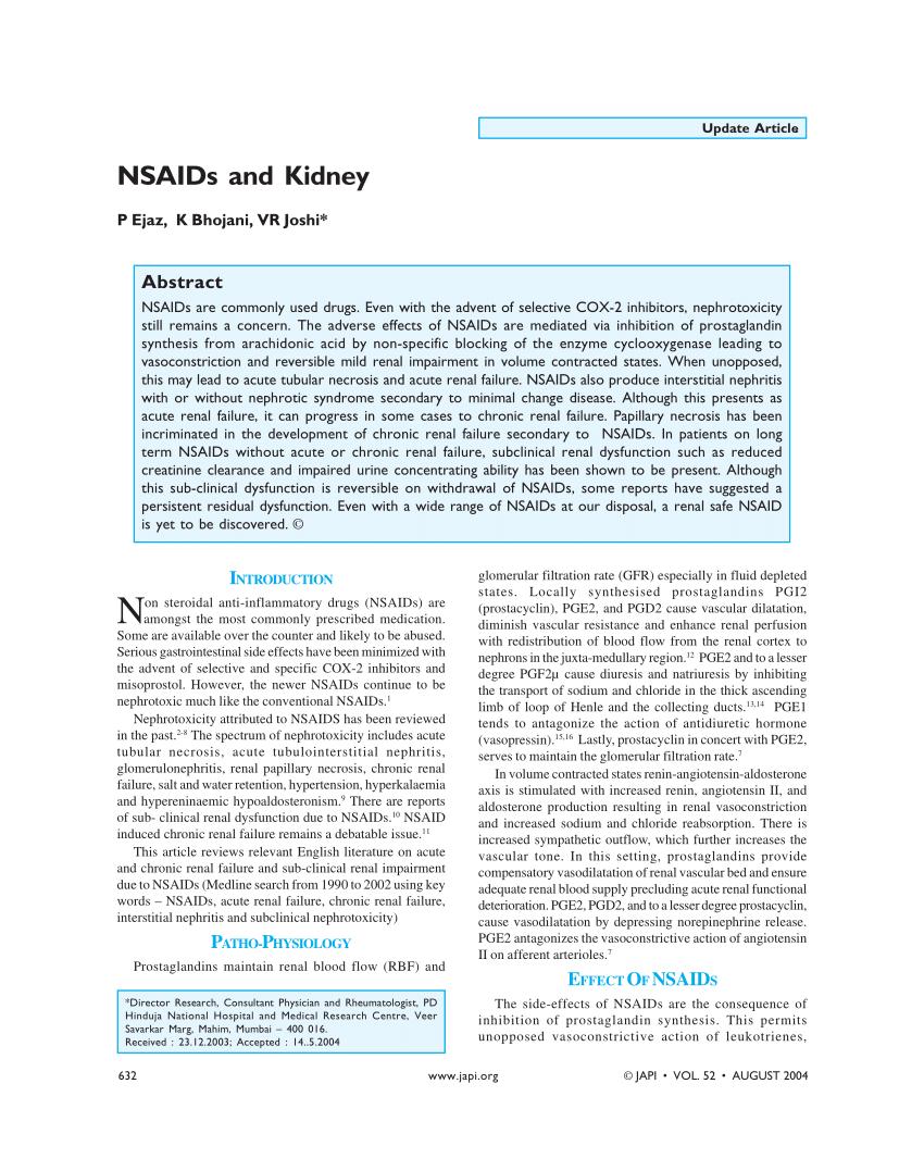 Kidney Damage Naproxen Reversible - kidausx