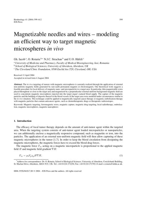 small resolution of magnetic particle motion in a poiseuille flow j w haverkort request pdf