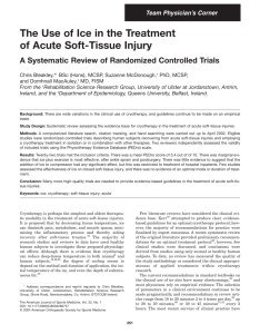 Pdf the use of ice in treatment acute soft tissue injury  systematic review randomized controlled trials also rh researchgate