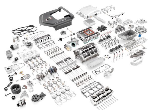 有没有汽车发动机解剖图片-找一张详细的发动机解剖部件名称图