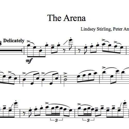 The Arena Karaoke Sample by Lindsey Stirling Sheet Music
