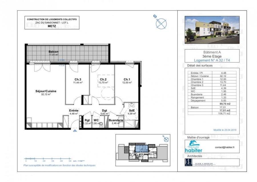 apartment for sale metz 89 m