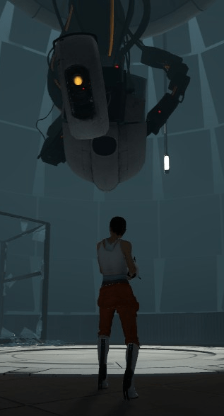 File:Chell and GLaDOS Size Comparison.png