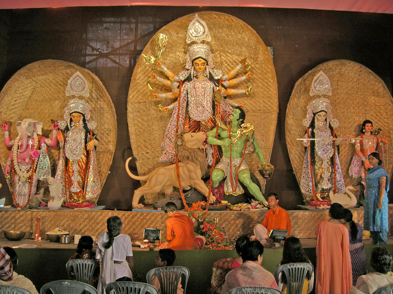Maa Durga The Almighty Goddess A Photo From West Bengal