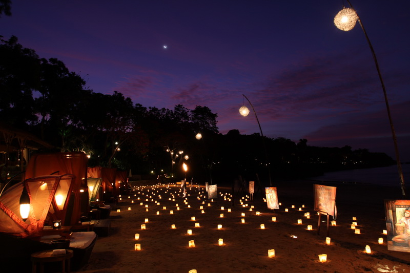 Dinner By Candle Light A Photo From Bali Nusa Tenggara