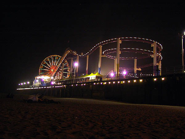 Santa Monica Pier at Night a photo from California West