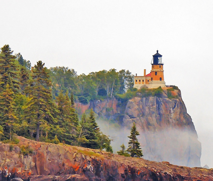 French Fall Wallpaper Split Rock Lighthouse A Photo From Minnesota Midwest