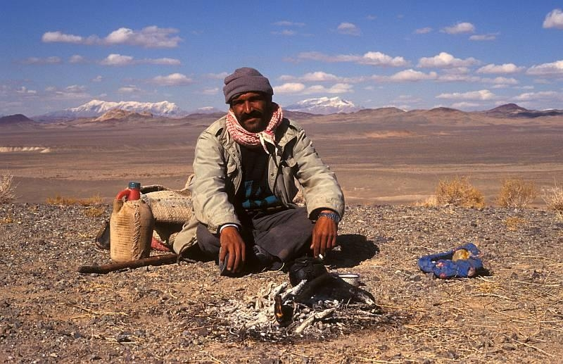 Man In Central Iranian Desert, A Photo From Kerman, East