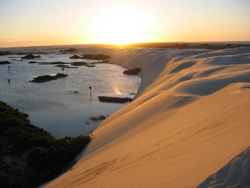 Sunset at Lencois Maranhenses - Lencois Maranhenses, Maranhao