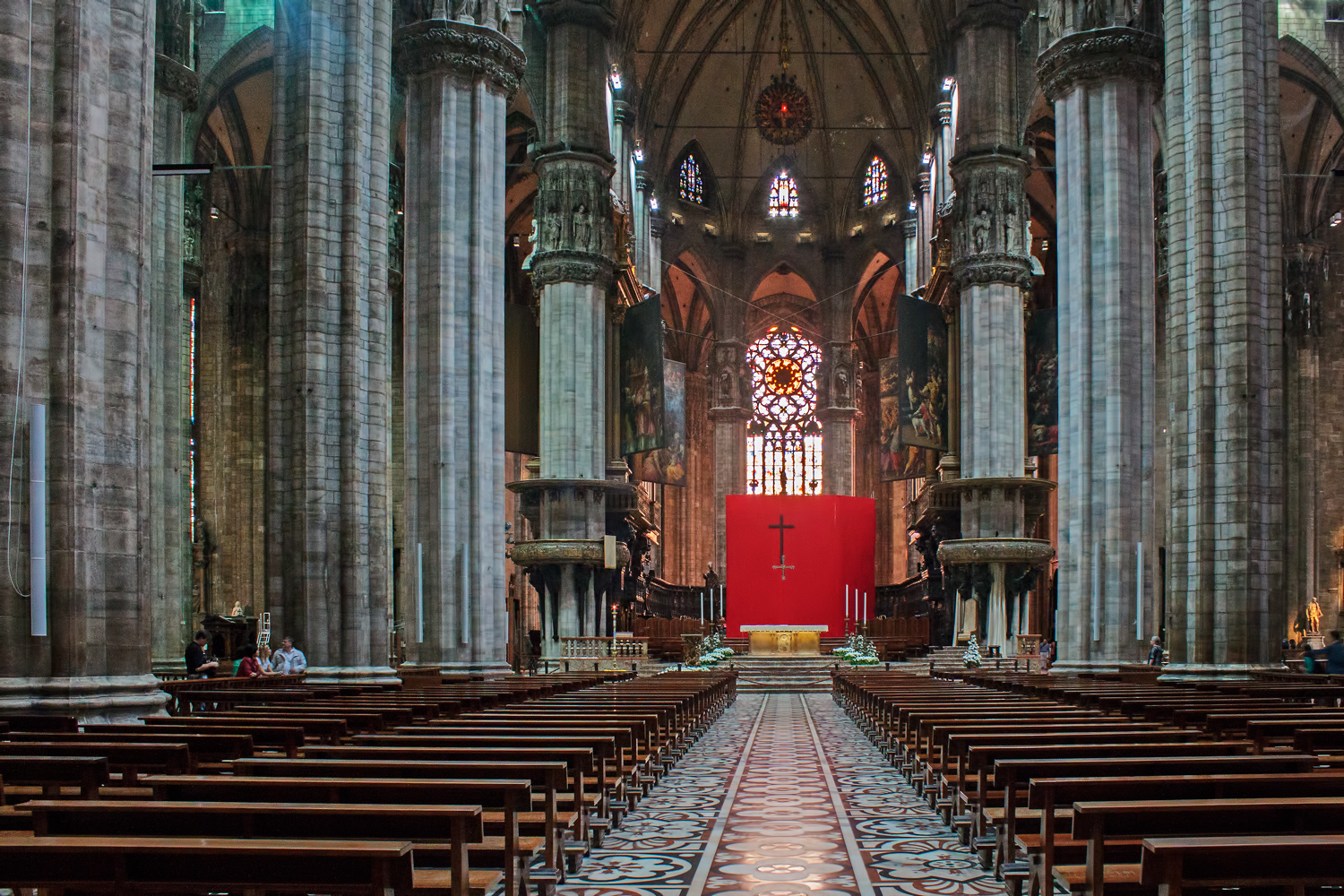 Milan Cathedral Interior A Photo From Milan Lombardia