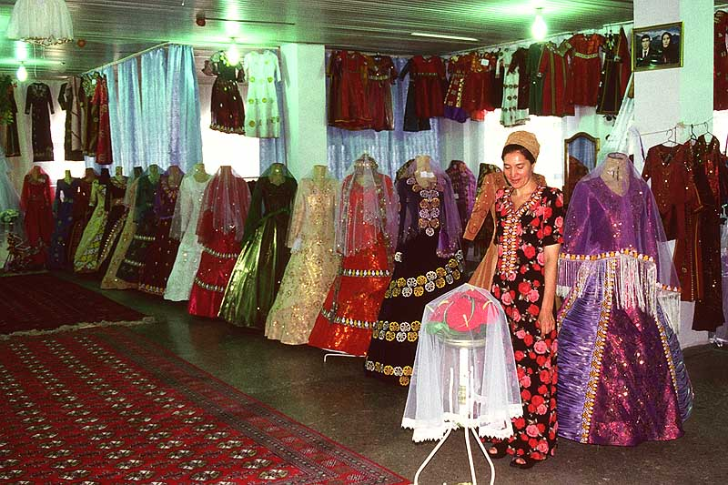 Silk Road Turkmen Wedding Gowns A Photo From Mary East